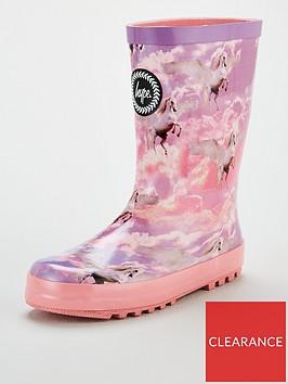 hype-girls-unicorn-wellington-boots-pink
