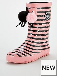 hype-girls-stripe-pom-pom-wellington-boots-pink