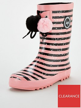 hype-girls-stripe-pom-pom-wellington-boots-pink