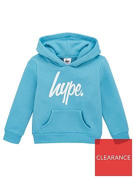 hype-kids-script-hoodie-blue