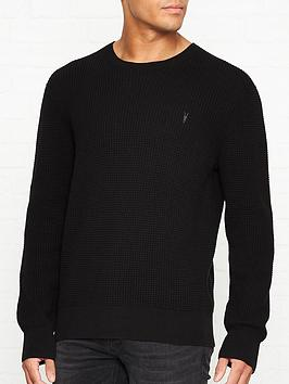 allsaints-wells-waffle-knitted-crew-neck-jumper-black