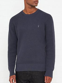 allsaints-wells-waffle-knitted-crew-neck-jumper-charcoal