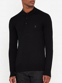 allsaints-mode-merino-wool-knitted-long-sleeve-polo-shirt-black