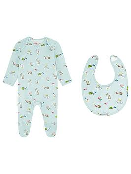 cath-kidston-baby-girls-mini-woodland-sleepsuit-and-bib-set-mint