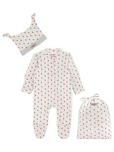 cath-kidston-baby-girls-rose-sleepsuit-and-hat-set-pink