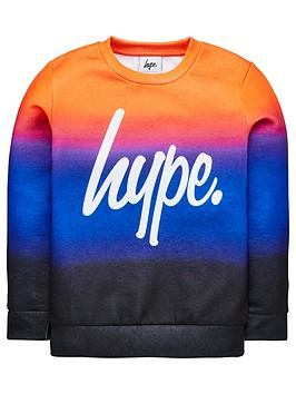 hype-boys-sunbeam-fade-crew-neck-sweat-top-multi