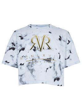 river-island-girls-ri-active-white-marble-print-t-shirt