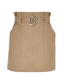 river-island-girls-stone-paperbag-skirt