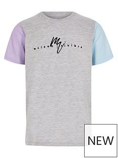 river-island-boys-maison-riviera-contrast-sleeve-t-shirt-grey