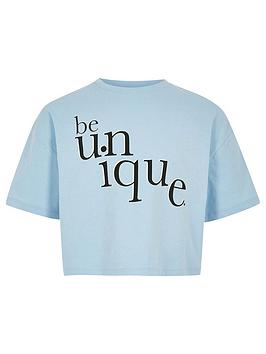river-island-girls-be-unique-t-shirt-blue