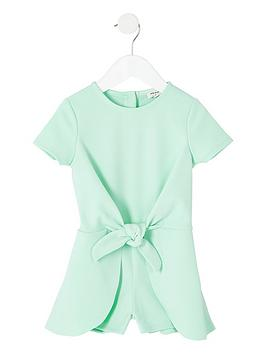 river-island-mini-girls-green-knot-front-playsuit