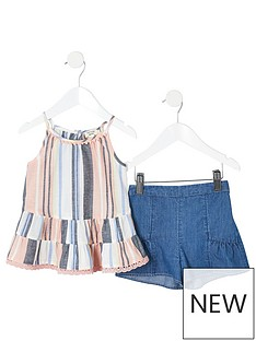river-island-mini-girl-pink-stripe-cami-top-outfit