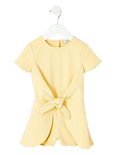 river-island-mini-girls-yellow-knot-front-playsuit