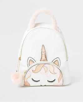 river-island-girls-unicorn-backpack-white
