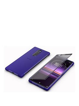 sony-xperia-1-style-cover-touch-protective-phone-case-purple