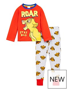 disney-the-lion-king-toddler-boys-roar-stay-wild-pyjamas-redgrey