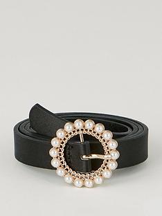 warehouse-jewelled-buckle-belt