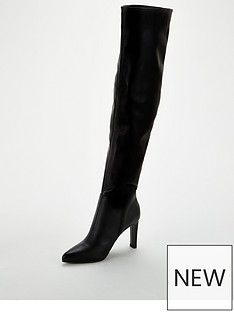 wallis-puzzle-slouch-knee-boots-black