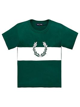 fred-perry-boys-wreath-colour-block-short-sleeve-t-shirt-green