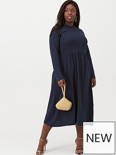 junarose-curve-newsalisa-long-sleeved-midi-dress-navy