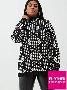 junarose-curve-nisa-long-sleeve-knit-pullover-black