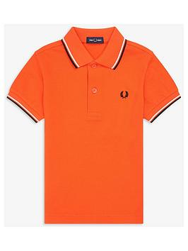 fred-perry-boys-twin-tipped-short-sleeve-polo-shirt-orange