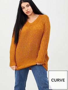 junarose-curvenbspoviya-long-sleeve-knit-pullover-gold