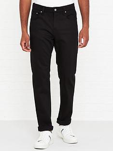 nudie-jeans-steady-eddie-ii-regular-tapered-fit-jeans-black