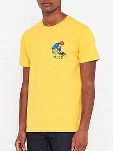 nudie-jeans-roy-multi-logo-boy-t-shirt-yellownbsp