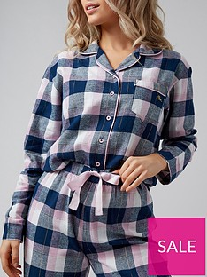 boux-avenue-charcoal-check-pj-in-a-bag-navymixnbsp