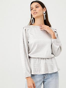 v-by-very-peplum-hem-long-sleeve-top-silver
