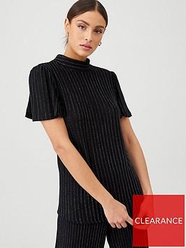 v-by-very-lurex-stripe-co-ord-top-black
