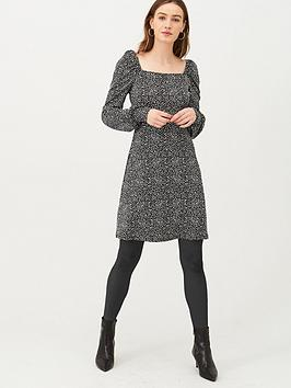 v-by-very-printed-animal-square-neck-jersey-mini-dress-monochrome