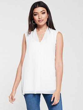 wallis-v-neck-chiffon-top-ivory