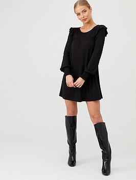 v-by-very-frill-sleeve-tunic-black