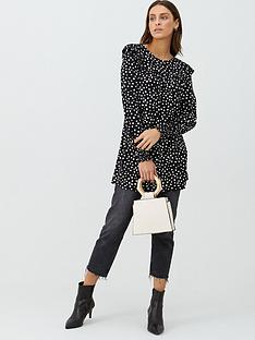 v-by-very-frill-sleeve-printed-tunic-polka-dot