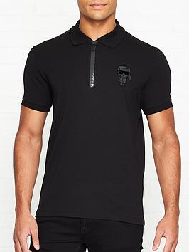 karl-lagerfeld-ikonik-zip-polo-shirt-black