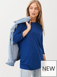 v-by-very-the-essential-three-quarter-sleeved-raglan-t-shirt-navy