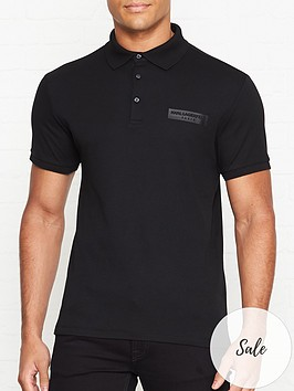 karl-lagerfeld-tonal-chest-logo-polo-shirt-black