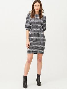 v-by-very-volume-sleeve-jersey-mini-dress