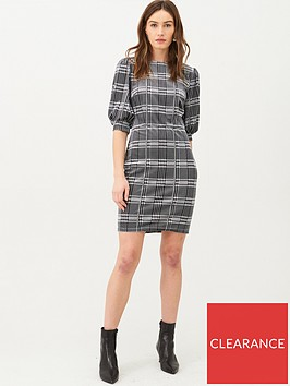 v-by-very-volume-sleeve-jersey-mini-dress