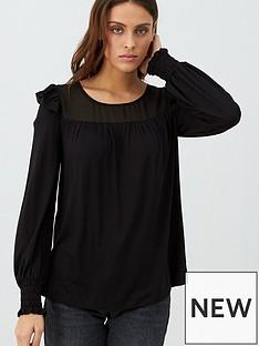 v-by-very-frill-bib-long-sleeve-top-black