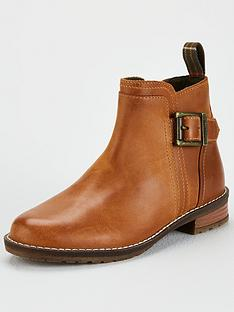 barbour-girls-sarah-buckle-leather-ankle-boots-tan