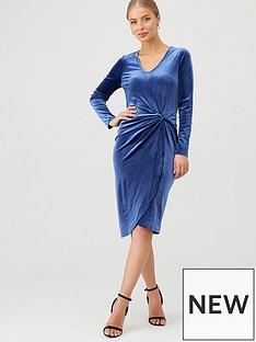 v-by-very-twisted-velvet-dress-blue