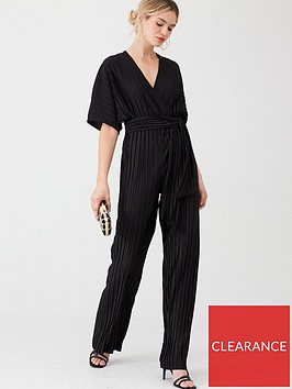 v-by-very-v-neck-plisse-jumpsuit-black