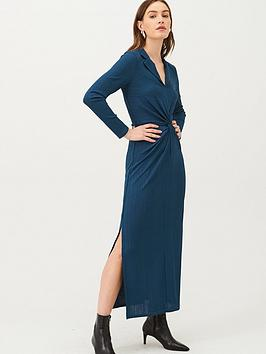 v-by-very-front-knotted-collar-jersey-dress