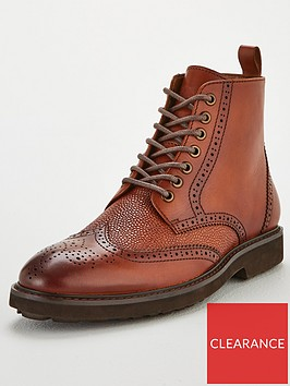 office-benedict-brogue-boots-brown