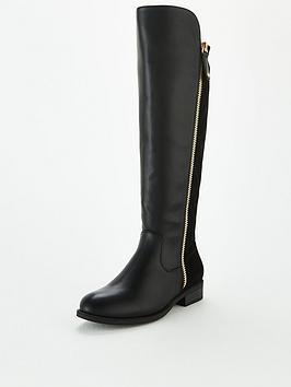 v-by-very-tilly-wide-fit-stretch-back-zip-knee-boots-black