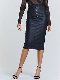 michelle-keegan-elasticated-waist-pu-midi-skirt-black