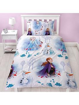 Product photograph showing Disney Frozen Elements Single Duvet Cover Set